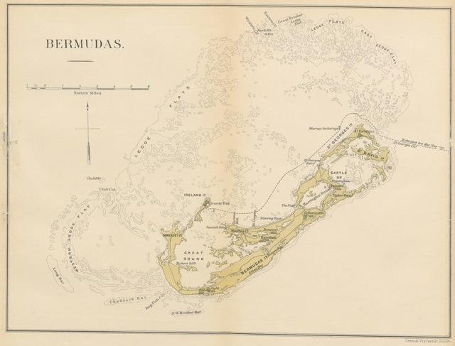 """map from """"Bland Oleandrar och Liljor. Minnen från en sommar på Bermuda eller Somers őar, etc"""""""