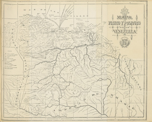 "map from ""[Manual de historia de Venezuela para el uso de las escuelas, etc. [With an introduction by R. Seijas.]]"""