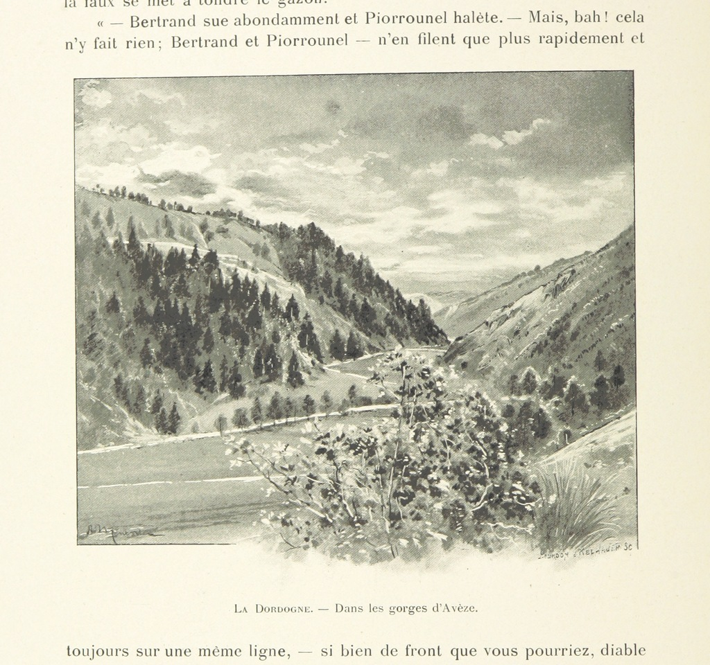 "Aquitaine region from ""L'Auvergne. Illustrations de A. Montader"""