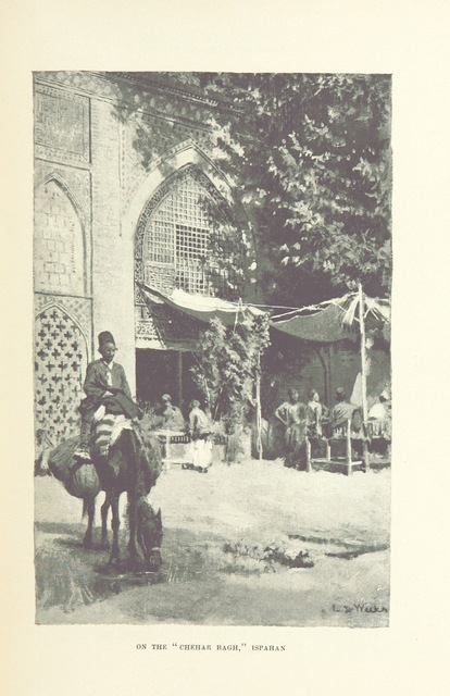 """Chahar Bagh Boulevard from """"From the Black Sea through Persia and India ... Illustrated by the author"""""""