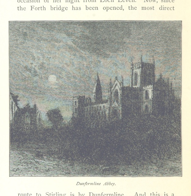 "Dunfermline Abbey from ""Gray Days and Gold ... New edition, revised, with illustrations"""