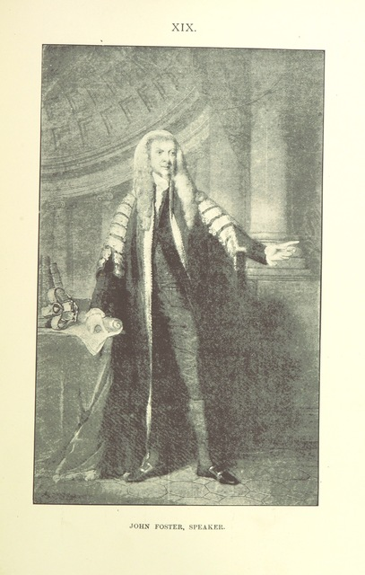 "John Foster, 1st Baron Oriel from ""An Account of the Parliament House, Dublin. With notices of Parliament held there, 1661-1800 ... Illustrated, etc. (New edition of a section of the same author's ""History of the City of Dublin."")"""