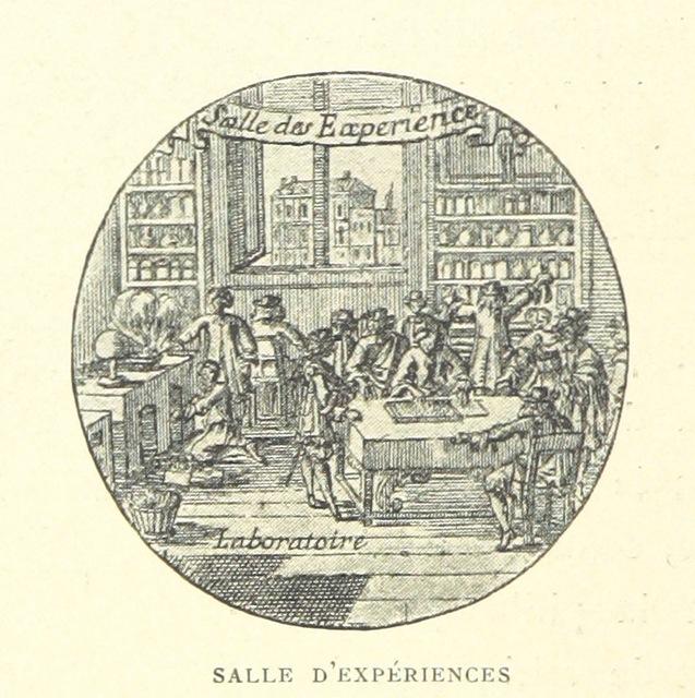 """laboratory from """"Le Grand siècle. Louis XIV. Les arts, les idées, etc. [With plates.]"""""""
