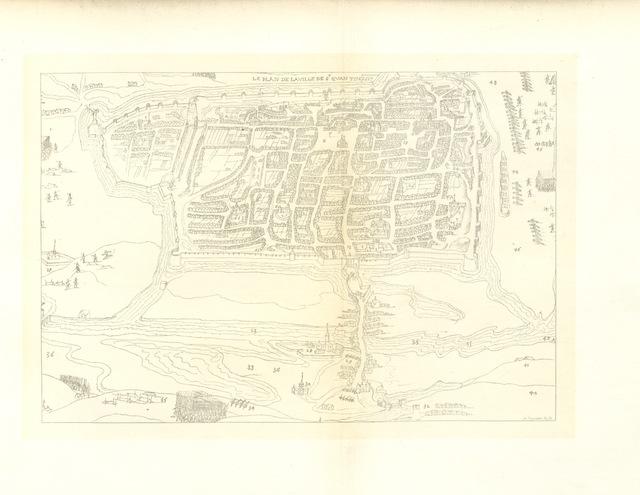 """map from """"La Guerre de 1557 en Picardie ... Par E. Lemaire, E. Fleury ... É. Theillier [and others], etc. [Illustrated.]"""""""