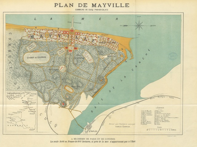 """map from """"Mayville. An Anglo-French Pleasaunce: its attractions and aims. Illustrations by Phil May"""""""