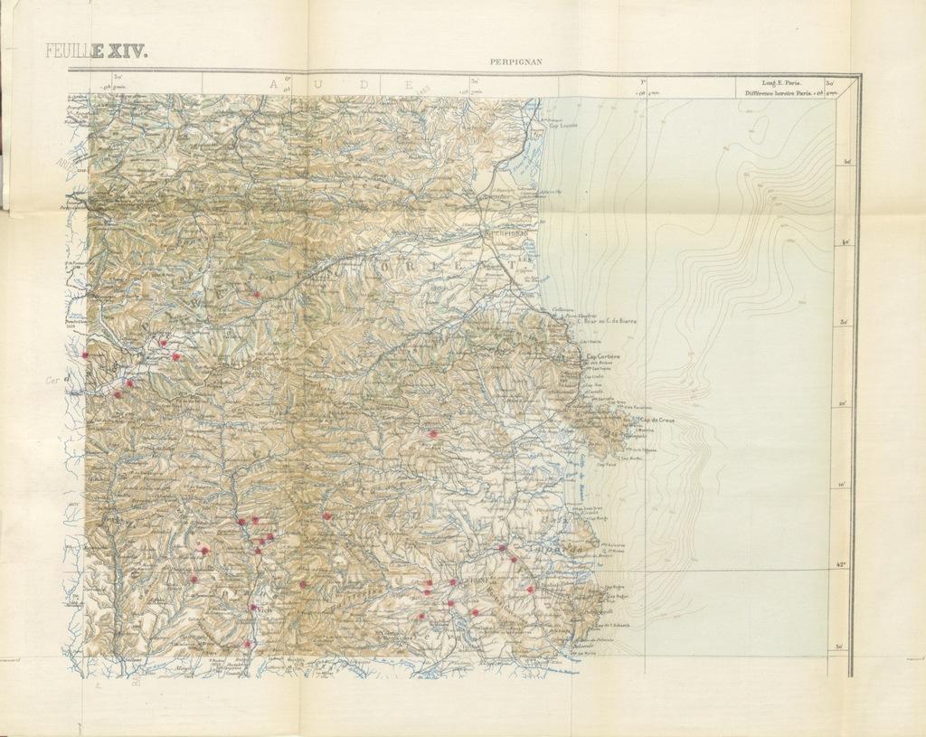 """map from """"Relations politiques des comtes de Foix avec la Catalogne jusqu'au commencement du XIVe siècle"""""""