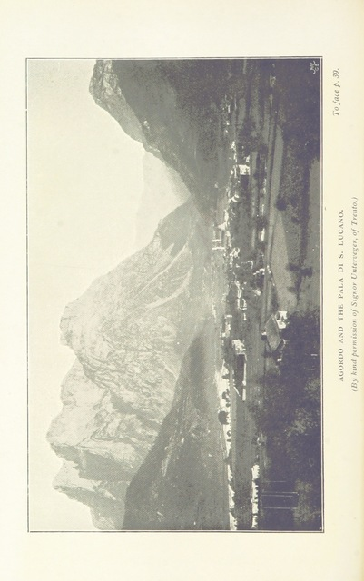 """mountains from """"Through the Dolomites from Venice to Toblach ... With ... illustrations and map"""""""