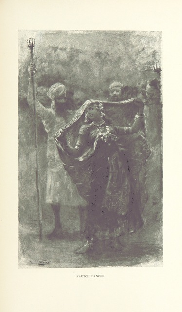 """nautch girls from """"From the Black Sea through Persia and India ... Illustrated by the author"""""""