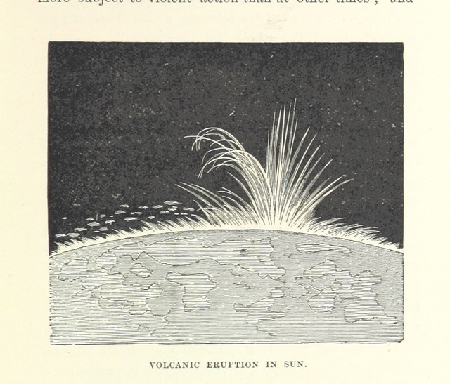 "solar flare from ""The Half Hour Library of Travel, Nature and Science for young readers"""