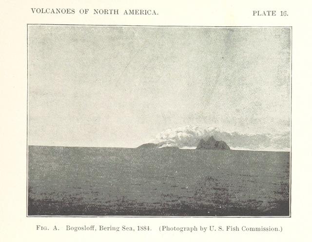 "Bogoslof Island from ""Volcanoes of North America, etc"""