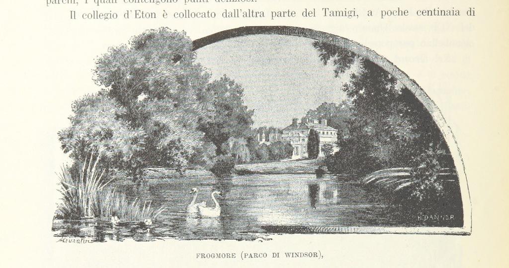 """Frogmore Estate from """"Inghilterra, Scozia e Irlanda. Opera illustrata con 494 incisioni, etc"""""""