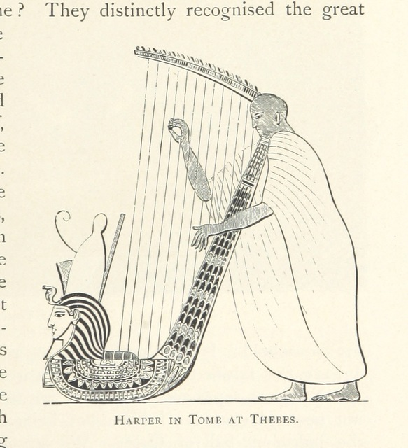 """harpist from """"The Land of the Pharaohs ... Partly re-written by R. Lovett ... With a supplementary chapter on recent discoveries by Professor Flinders Petrie"""""""