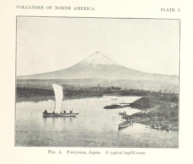 "Honshu Island from ""Volcanoes of North America, etc"""