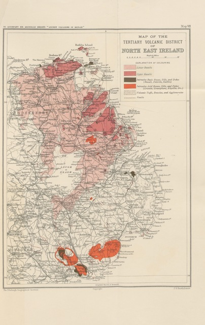 """map from """"The Ancient Volcanoes of Great Britain ... With seven maps and numerous illustrations"""""""