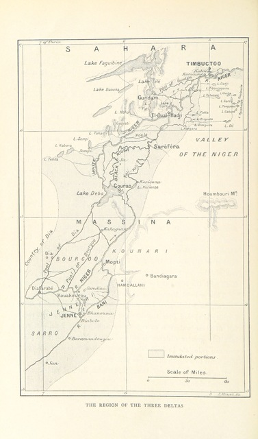 """map from """"Timbuctoo the Mysterious ... Translated from the French by D. White. With ... illustrations ... and ... maps, etc"""""""