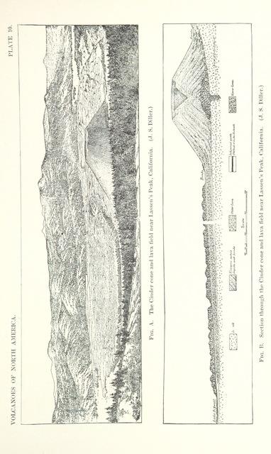 """Mount Lassen from """"Volcanoes of North America, etc"""""""