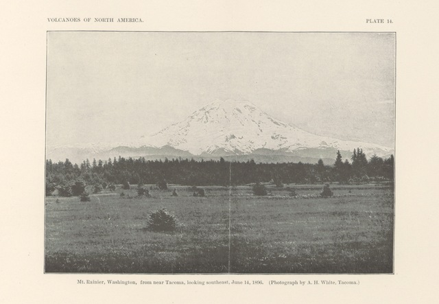 "Mount Rainier from ""Volcanoes of North America, etc"""