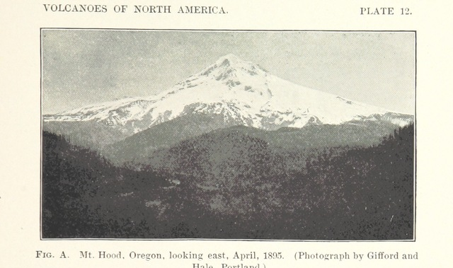"""Oregon's highest mountain from """"Volcanoes of North America, etc"""""""