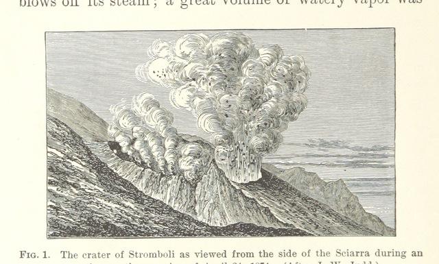 "Sciara del Fuoco from ""Volcanoes of North America, etc"""
