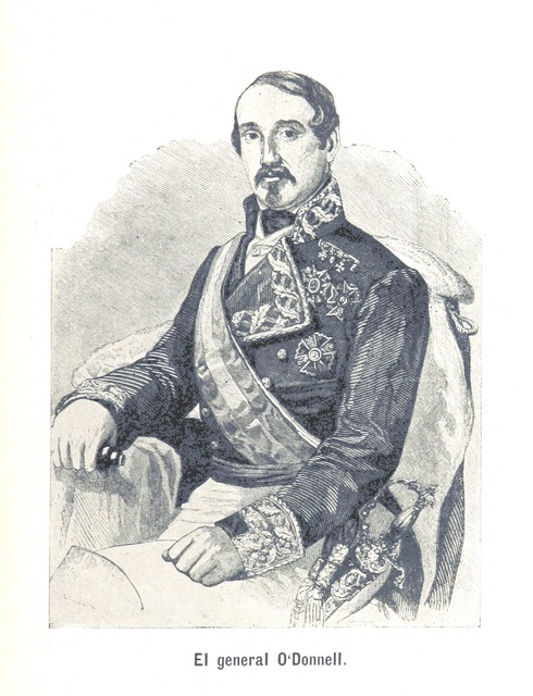 """Leopoldo O'Donnell from """"Historia de España en América. Isla de Cuba"""""""