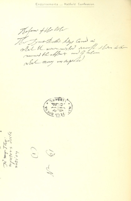 """manuscript from """"Thomas Winter's Confession and the Gunpowder Plot. [With facsimiles.]"""""""