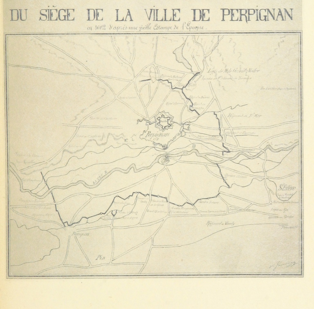 "map from ""Histoire militaire du Roussillon"""