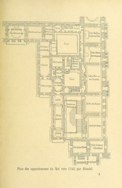 """map from """"Le Château de Versailles sous Louis XV. Recherches sur l'histoire de la cour et sur les travaux des bâtiments du roi ... Plans et dessins inédits. (Documents pour servir à l'histoire du Château.)"""""""