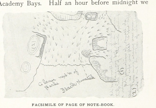 """map from """"Northward over the """"Great Ice"""": a narrative of life and work along the shores and upon the interior ice-cap of Northern Greenland in the years 1886 and 1891-1897 ... With maps, diagrams, and about eight hundred illustrations"""""""