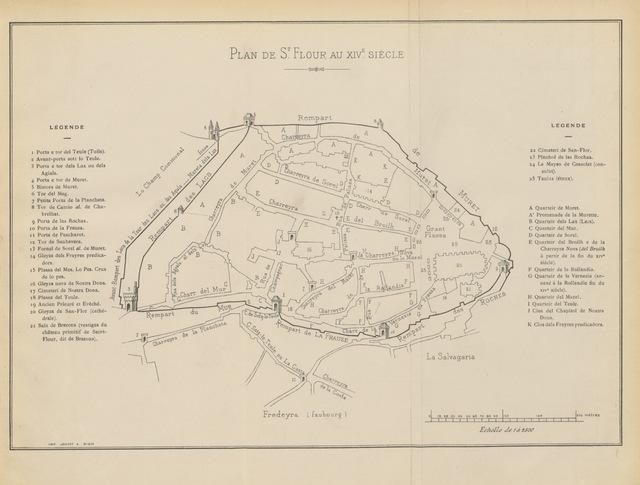 """map from """"Registres consulaires de Saint-Flour en langue romane avec résumé français, 1376-1405. Edités et annotées par Marcellin Boudet. Préface de M. A. Thomas"""""""