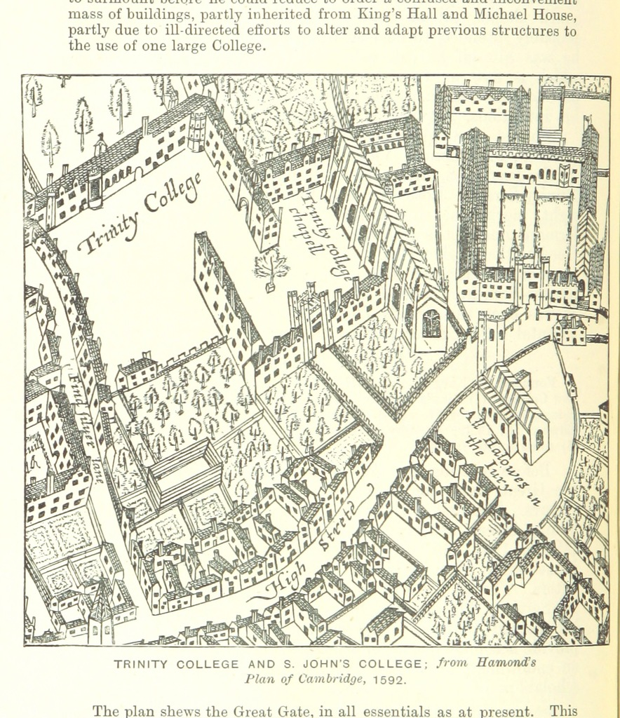 """St John's College from """"A Concise Guide to the Town and University of Cambridge. In four walks. [With illustrations and a map.]"""""""