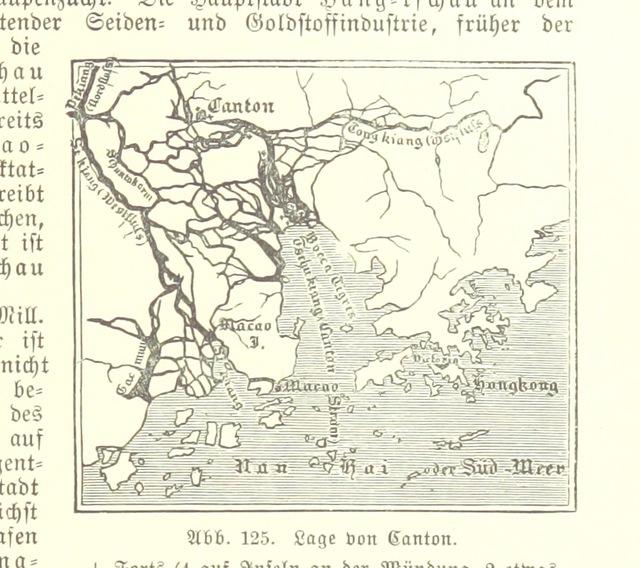 """China from """"Illustriertes kleineres Handbuch der Geographie ... Dritte, verbesserte Auflage bearbeitet von Dr. W. Wolkenhauer"""""""