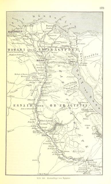 """Egypt from """"Illustriertes kleineres Handbuch der Geographie ... Dritte, verbesserte Auflage bearbeitet von Dr. W. Wolkenhauer"""""""