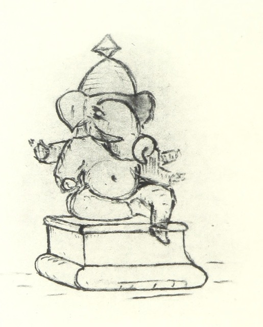 "Ganesh from ""A Digit of the Moon ... A Hindoo love story, translated from the original MS. [or rather, written] by F. W. Bain"""
