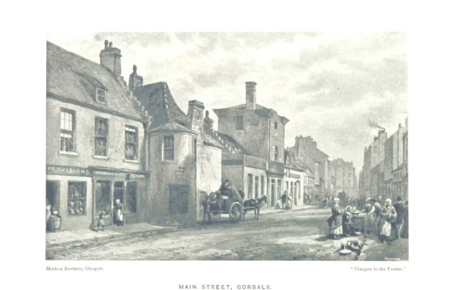 """Gorbals from """"Glasgow in the """"Forties."""" [Illustrations, with explanatory text.] ... Revised with notes and a biographical sketch by A. H. Millar"""""""