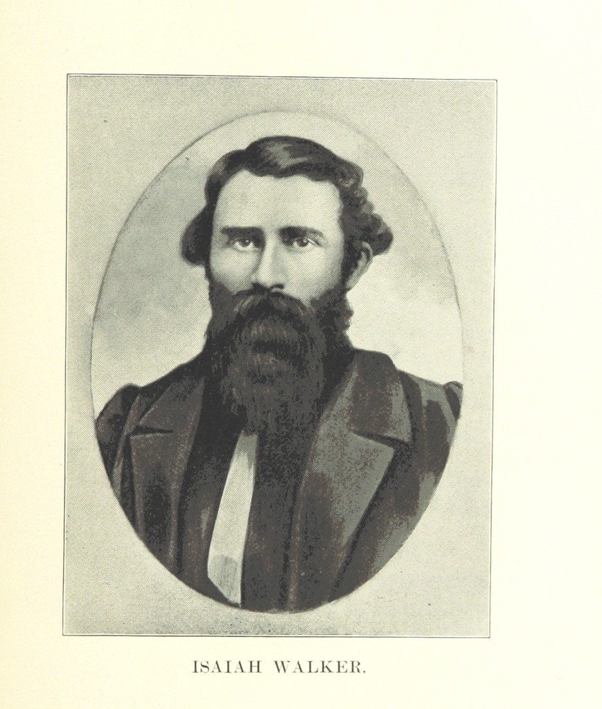"Isaiah Walker from ""The Provisional Government of Nebraska Territory and the Journals of William Walker, Provisional Governor of Nebraska Territory. Edited by William E. Connelley, etc. [With portraits and a map.]"""
