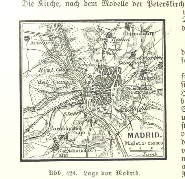 """Madrid from """"Illustriertes kleineres Handbuch der Geographie ... Dritte, verbesserte Auflage bearbeitet von Dr. W. Wolkenhauer"""""""