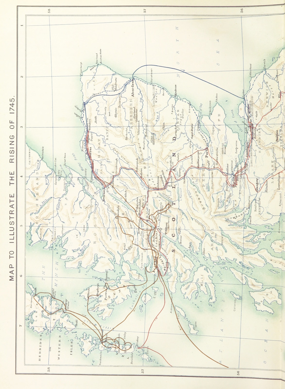 """map from """"Historical Geography of the Clans of Scotland ... Third edition,"""