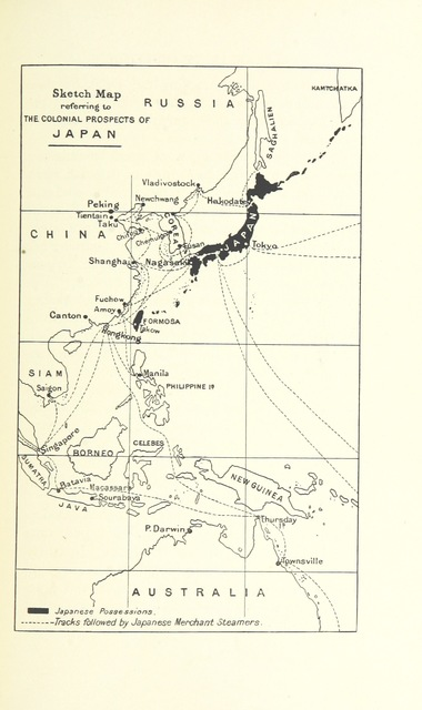 """map from """"Japan in Transition. A comparative study of the progress, policy, and methods of the Japanese since their war with China ... With ... maps ... and illustrations"""""""