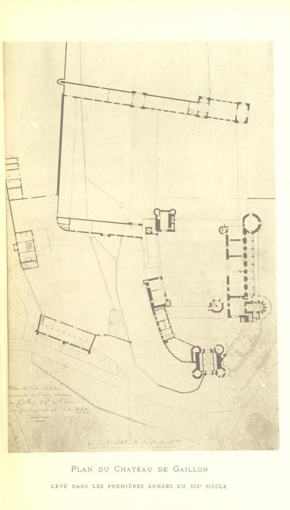 """map from """"La Chapelle de Gaillon et les fresques d'Andrea Solario. (Extrait du Bulletin de la Société des Amis des Arts du département de l'Eure.)"""""""