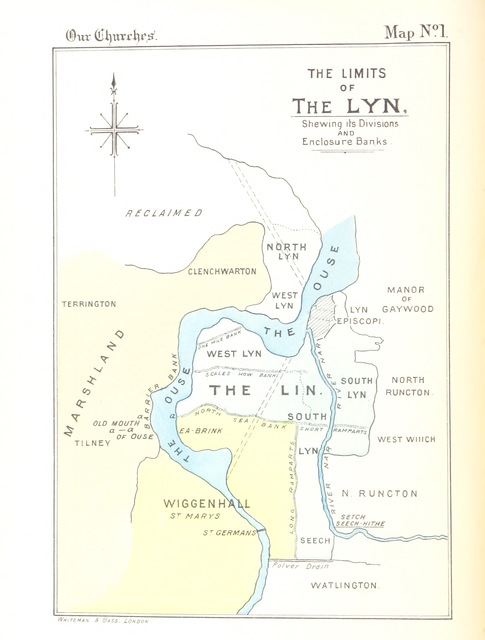 """map from """"[""""Our Borough""""-""""Our Churches"""": King's Lynn, Norfolk ... Pt. 1.-""""Our Borough."""" [With a map.]]"""""""