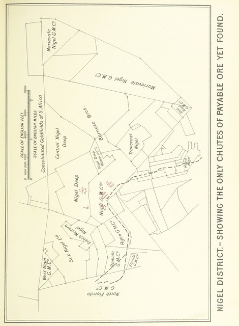 """map from """"The Gold Mines of the World. Containing concise and practical advice for investors gathered from a personel inspection of the mines of the Transvaal, India, West Australia, Queensland, New Zealand, British Columbia and Rhodesia ... Illustrated with plans and photographs"""""""