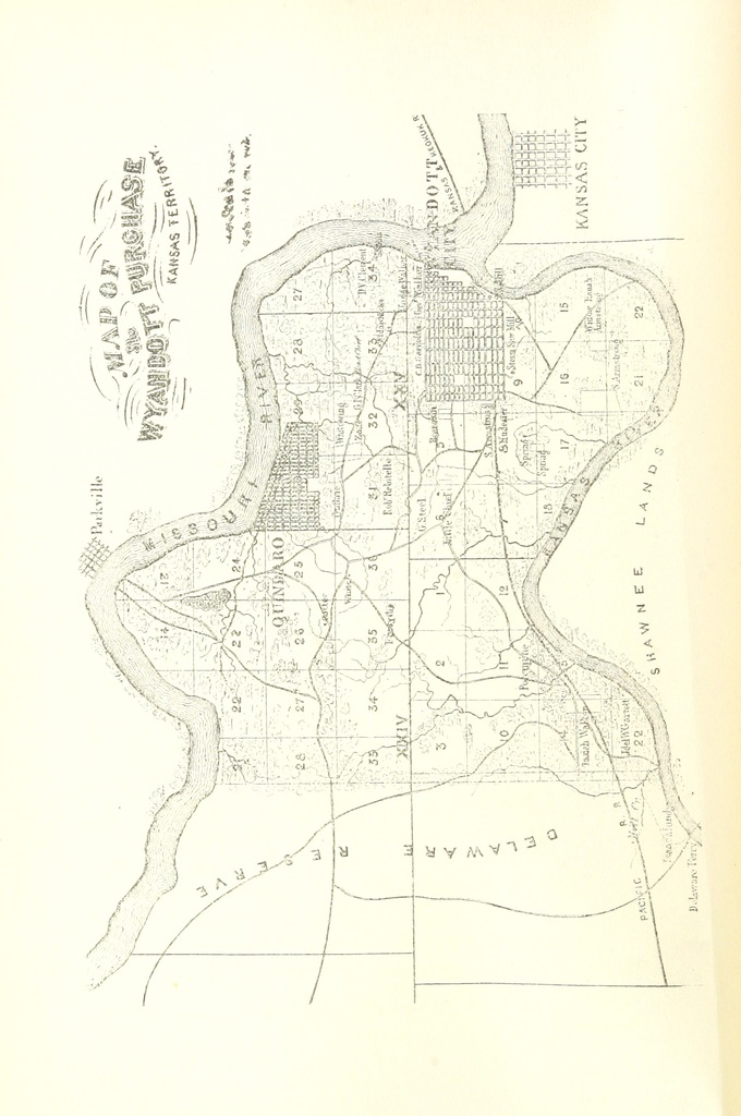"map from ""The Provisional Government of Nebraska Territory and the Journals of William Walker, Provisional Governor of Nebraska Territory. Edited by William E. Connelley, etc. [With portraits and a map.]"""