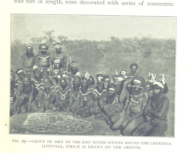 """men_of_the_Emu_Totem from """"The Native Tribes of Central Australia. [With illustrations.]"""""""