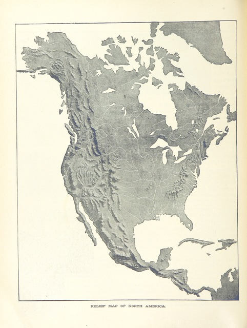 """North America from """"New Canadian Geography specially adapted for use in Public and High Schools"""""""