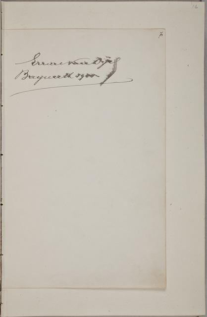 Handtekening / van Ernest van Dijck (1861-1923), tenor, in het autografenalbum van Rudolf Hugo Driessen (1873-1946) en Caroline Driessen-Kleyn (1883-1938)