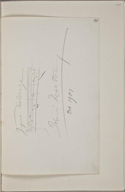 Handtekening / van Henri Marteau (1874-1934), violist en componist, in het autografenalbum van Rudolf Hugo Driessen (1873-1946) en Caroline Driessen-Kleyn (1883-1938)