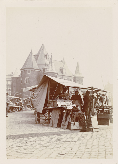 Nieuwmarkt in Amsterdam with the Weigh House in the background