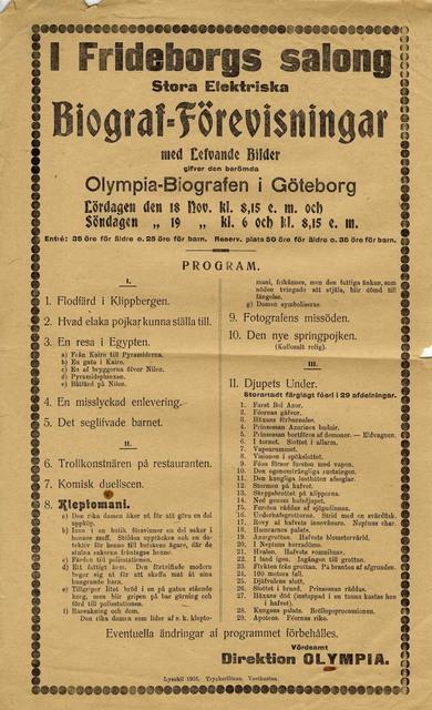 Olympia-Biografen i Göteborg