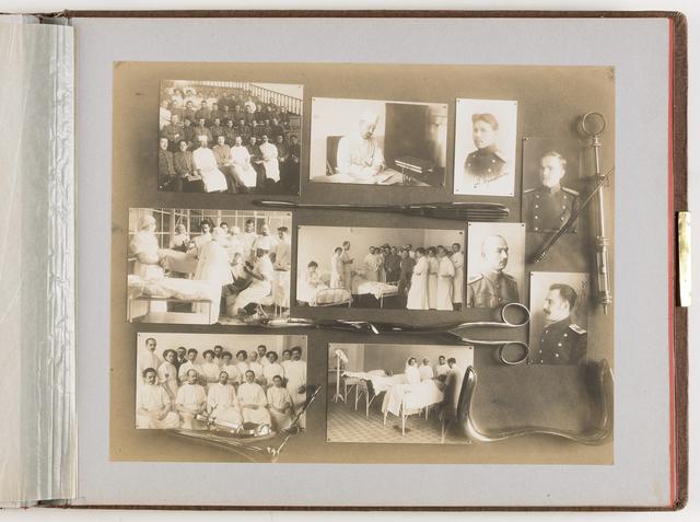 Compositie van 10 foto's en medische instrumenten