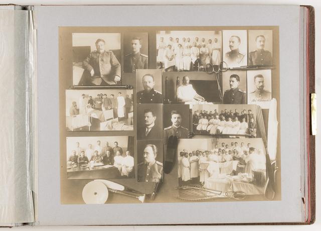 Compositie van 16 foto's en medische instrumenten